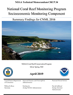 Cover - National Coral Reef Monitoring Program Socioeconomic Monitoring Component: Summary Findings for CNMI, 2016