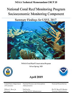 Cover - National Coral Reef Monitoring Program Socioeconomic Monitoring Component: Summary Findings for USVI, 2017