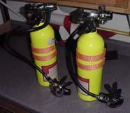 Image of scuba tanks with regulator