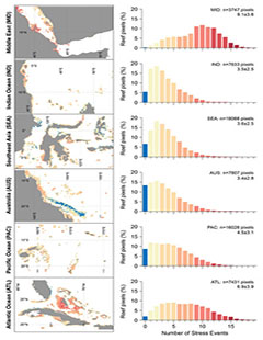 Charts - Warming Trends and Bleaching Stress of the World's Coral Reefs 1985-2012