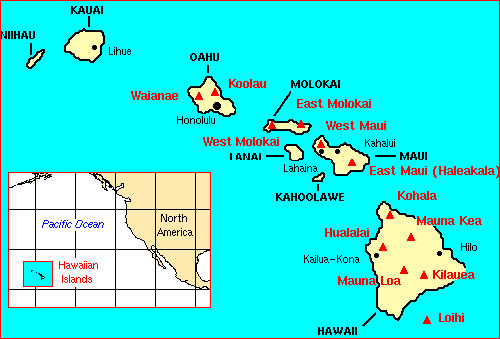 Main Hawaiian Islands location map