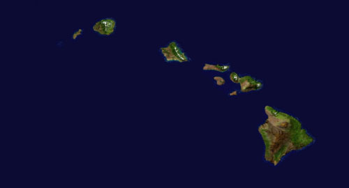 Main Hawaiian Islands detail map