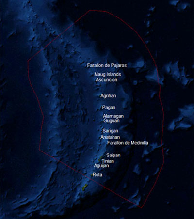 Northern Mariana Islands satellite map
