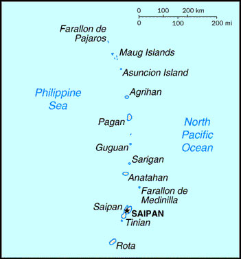 Commonwealth of the Northern Mariana Islands location map