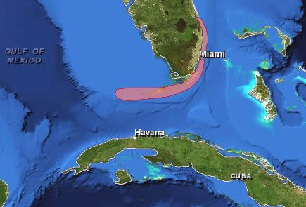 Florida location map
