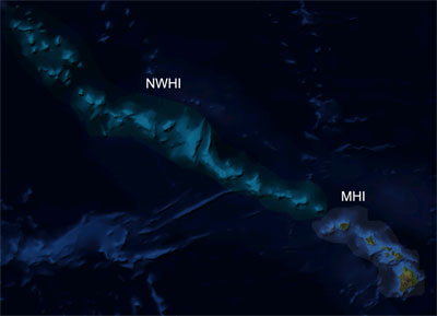 Northwestern Hawaiian Islands satellite map
