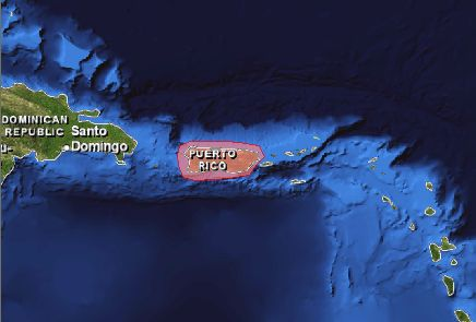Puerto Rico location map