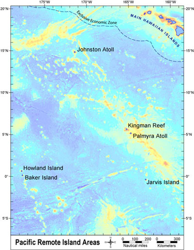 NOAA CoRIS Regional Portal US Pacific Remote Island Areas - Us pacific islands map