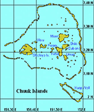 Chuuk Islands Map